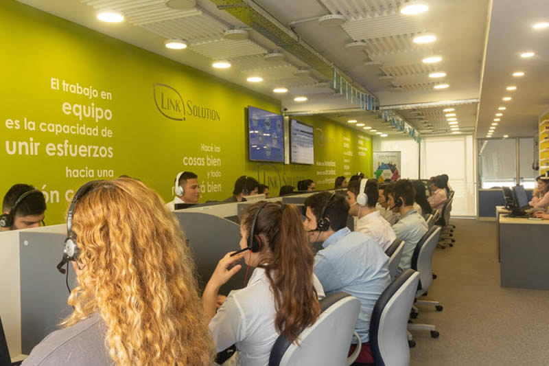 linksolution operadores contact center